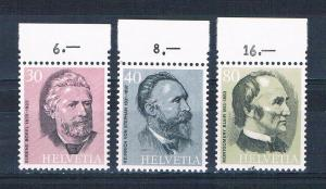 Switzerland 591-93 MNH set Founders of UPU 1974 (S1125)