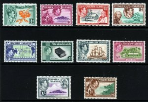 PITCAIRN ISLANDS King George VI 1940-51 The Full Pictorial Set SG 1 to SG 8 MINT