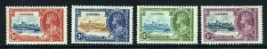 GAMBIA King George V 1935 Royal Silver Jubilee Set SG 143 to SG 146 MINT