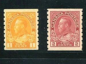Canada #126b and #127 ii Mint XF NH  Cat $250