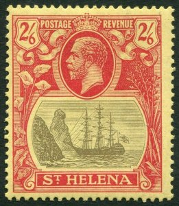ST HELENA-1922-27 2/6 Grey & Red/Yellow Sg 94 MOUNTED MINT V33843