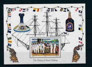 [19354] British Virgin Islands 1986 History Rum making Souvenir Sheet MNH BL. 29