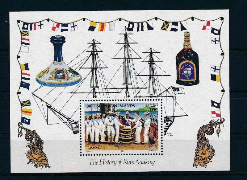 [19354] British Virgin Islands 1986 History Rum making Souvenir Sheet MNH BL. 29