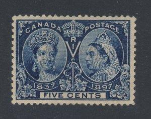 Canada Stamp  Victoria Jubilee #54-5c MH Gum Crease F/VF Guide Value= $65.00