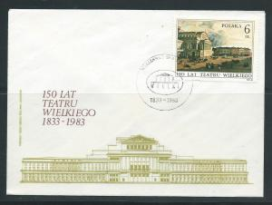 Poland 2555 1983 Warsaw Theater Painting Unaddressed FDC