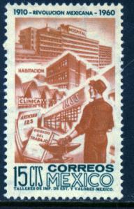 MEXICO 914, 15c 50th Anniv Mexican Revolution. UNUSED, HINGED, OG. VF.