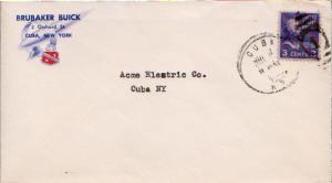 United States New York Cuba 1952 numeral duplex  Red and Blue Illustrated cor...