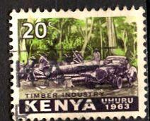 Kenya; 1963: Sc. # 4: O/Used Single Stamp
