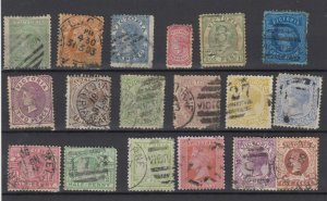 Victoria State QV Collection Of 18 Fine Used JK6319
