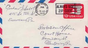 United States, Postal Stationery, Airmail, Pennsylvania