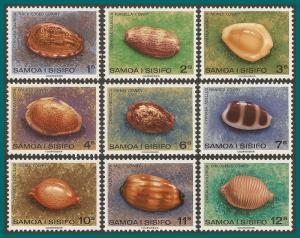 Samoa 1978 Shells I, MNH 478-486,SG516-SG524