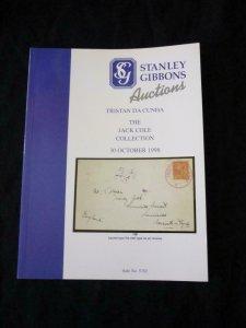 STANLEY GIBBONS AUCTION CATALOGUE 1998 TRISTAN DA CUNHA 'JACK COLE' COLLECTION