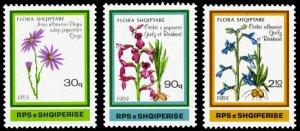 Albania 1989 FLOWERS Scott #2307-2309 Mint Never Hinged