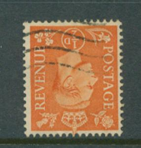 Great Britain GVI  SG 503 inverted watermark VFU