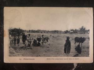 1907 Senegal Mauritania RPPC Postcard Cover Moorish camp in the desert To Paris