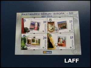 Latvia - Cept-Europa - Mini Sheet MNH