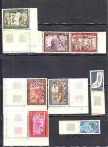 FRANCE ANDORRA 4 STOCK PAGES SOUND COLLECTION LOT MUCH MINT NH U/M $$$$$$$