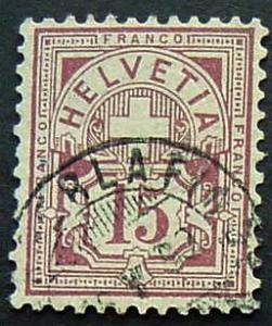 Switzerland, Scott 76, Used