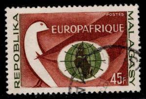 Madagascar Scott 357 Used EuropAfrica 1964  stamp