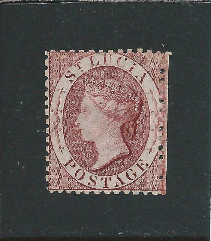 ST LUCIA 1863 (1d) LAKE WMK REVERSED MM SG 5ax CAT £70
