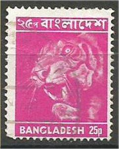 BANGLADESH, 1973, used  25k, Tiger Scott 47
