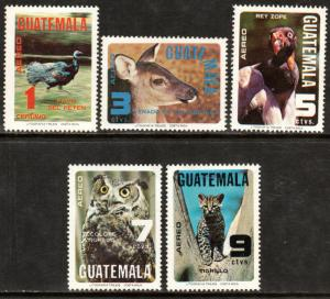 GUATEMALA C675-C680, WILDLIFE CONSERVATION SET + SS. LIGHT FOXING, MNH (186)