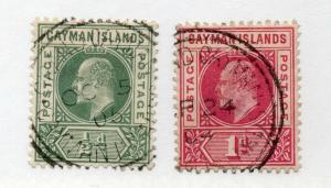 Cayman Islands - SG# 3 & 4 Used / wmk crown CA   -   Lot 0419241