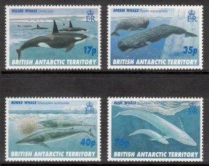 BRITISH ANTARCTIC 1996 Whales; Scott 244-48, SG 265-69; MNH