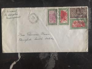 1934 Madagascar Cover to Beresford SD Usa