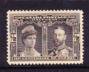 CANADA 1908  1/2c  BLACK   MH  Sc 96