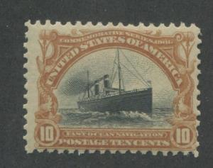 1901 US Stamp #299 Mint Hinged Ave Original Gum Pan-American Exposition Issue