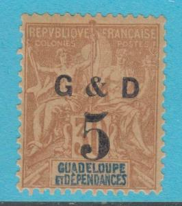 GUADELOUPE 45 MINT HINGED OG *   NO FAULTS  VERY FINE !