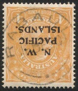 NEW GUINEA  (N.W.P.I.) Australia Sc 16  4d GV, SG 70, RABAUL Postmark/Cancel
