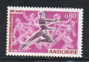 Andorra (Fr) Sc 202 Figure Skating Championships stamp mint NH