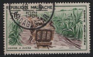 MALAGASY, C61, USED, 1960, Sugar Cane Harvest