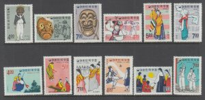 Korea Sc 552-563 MNH. 1967 Costumes, complete set, VF