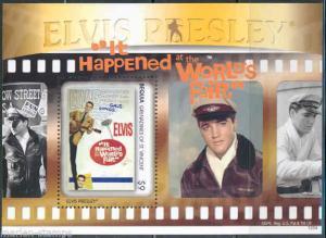 BEQUIA ELVIS PRESLEY 'IT HAPPENED AT THE WORLD'S FAIR' SOUVENIR SHEET I