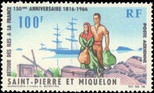 St. Pierre & Miquelon #C33, Complete Set, 1966, Hinged