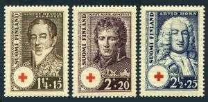 Finland B21-B23,MNH.Red Cross-1936.Robert Rehbinder,Gustav Armfelt,Arvid Horn.