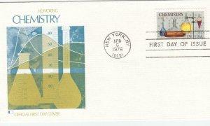 1976, Honoring Chemistry, Fleetwwod, FDC (D12725)