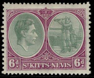 ST KITTS-NEVIS GV SG74, 6d green & bright purple, M MINT. Cat £13.