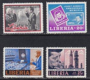 Liberia # 447-448, C173-175, John F. Kennedy, Perf Set & Souvenir Sheet, NH, 1/2