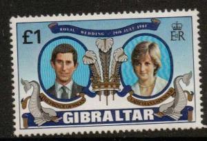GIBRALTAR SG450 1981 ROYAL WEDDING MNH