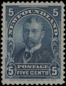 Newfoundland > Scott #85 MNH eGraded Superb 100 Gem > Year 1899