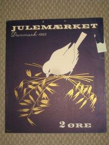 Denmark.. 1 Post Office,Display,Advertising Sign. Birds. Christmas Seal 1955