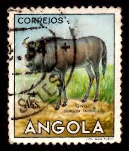 Angola 1953 African Brindled gnu Wild Animals 4a Scott.375 Used (#1)