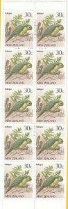 NEW ZEALAND $3.30 Booklet with pane of 30c Kakapo / Bird MNH................E318