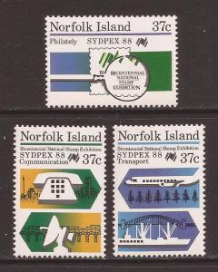 Norfolk Island scott #437-39 m/nh stock #T1492