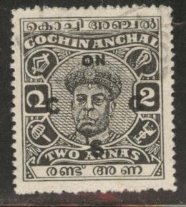 India - Cochin Feudatory state Scott o87 Official Used