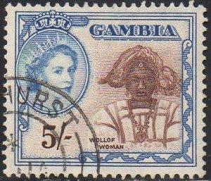 Gambia 1953 5/- Wollof woman used